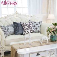 Avigers black&white&yellow Lint embroidered accent cushion covers outdoor latest designer seat pillow case cover for home docor