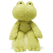 2015 New product plush frog stuffed cute green big frog plush toy
