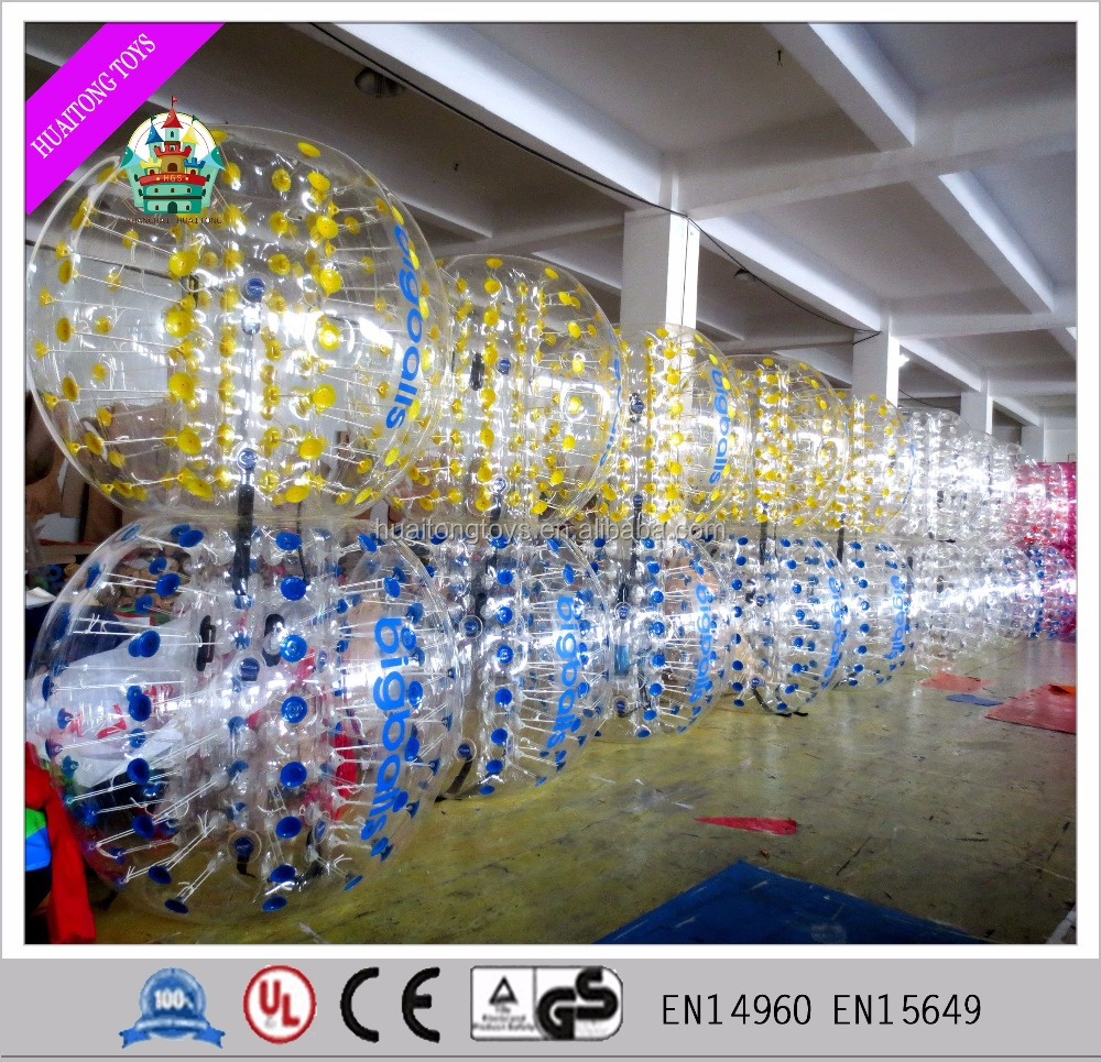 2016 Cheap inflatable bumper ball/ body zorbing soccer bubble ball for sale