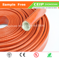 Hot Sale!!! Fiberglass silicone insulated rubber sleeving, protect cable