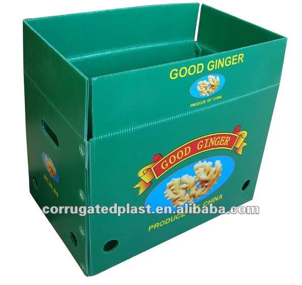 Folding Corrugated Plastic Reusable Box