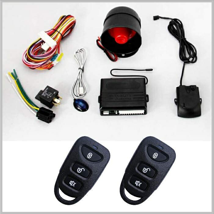warning alarm security alarm system Universal anti theft one way car alarm system with auto central lock 100 remotes optional