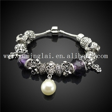 custom personalized silicone bracelet jewelry ,pearl silver bracelet jewelry ,exquisite bracelet jewelry