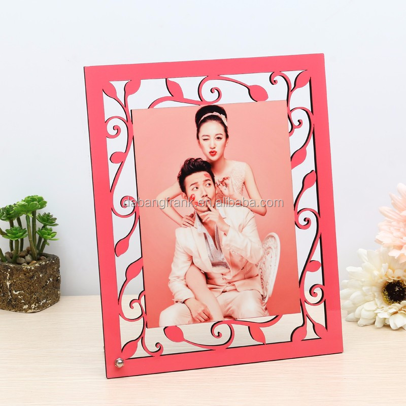 Rectangle Crafts Different Types Beautiful Sexy Girl Photo Frames For Sublimation BT-015