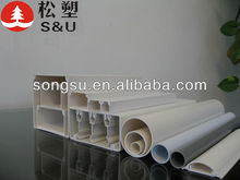 Solid PVC colored cable ducts for electrical wire