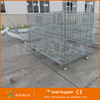Factory Direct Warehouse Medium Duty Storage Collapsible Foldable Metal Steel wire cage wire mesh container
