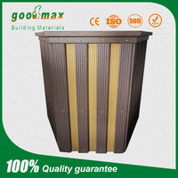 Weather resistant wood pastic composite wpc flower box