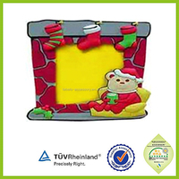 Colourful Plastic OEM embossed soft pvc rubber photo frame