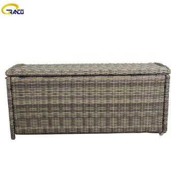 Patio rattan   outdoor cushion box storage cushion box