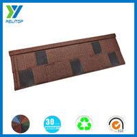 Heat insulation stone granule coated chip shingles metal roof tile