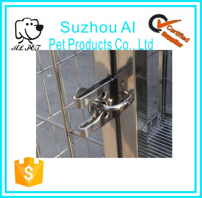 Pet Cage Accessories Stainless Steel Dog Kennel Cage Lock
