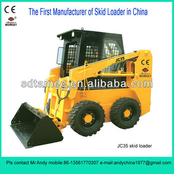 Skid steer loader,China bobcat,JC35 with 35hp diesel engine,loading capacity is 500kg