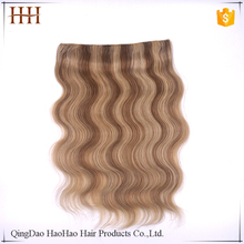 New arrival factory brazilian virgin halo hair extensions replacement wire
