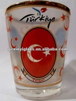 factory supply 1.5oz Turkiey shot glass/bar drinking glass/wine glasses