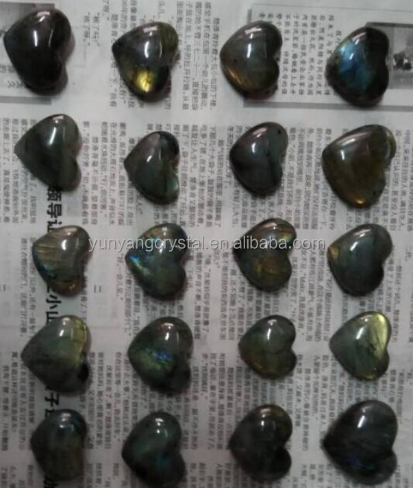 heart shape crystal necklace pendant souvenirs labradorite crystal heart for wedding decoration