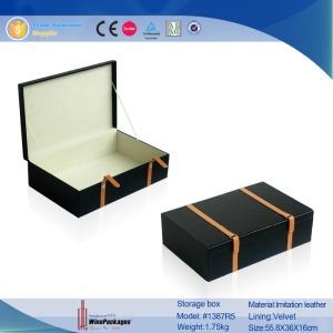 Factory OEM professional wood Case For Clothes and Toys, leather storage box