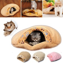 New Arrival High Quality Cat Kitten Cave Pet Warm Winter Bed House Puppy Sleeping Mat Dog Pad Igloo Nest
