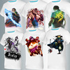wholesale 2017 t shirt custom printed cotton T shirt 3D men's printed lol game hero alliance short-sleeved T-shirt apparel