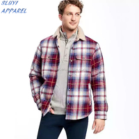 Long sleeve stripe man shirt jacket Wholesale Plaid Flannel Shirt for mens clothing Wholesale comfort colors Line Shirt