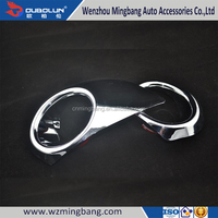 Exterior Accessories ABS Chrome Front Foglight Cover for Chevrolet Sail 2010 Car Parts Kit
