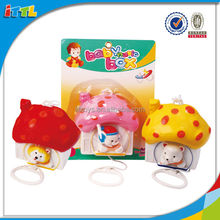 Safe Material Baby Pull String Bell With Music Toy Plastic Cartoon Bell Toy