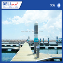 Marine steel pipe sizes piles dock floating dock