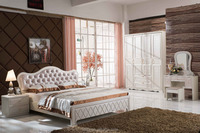 Factory Wholesale Price PVC Membrane Coated Luxury Bedroom Set