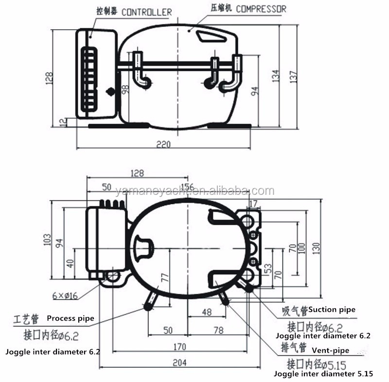 factory sell directely r134a dc compressor for