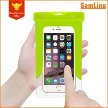 Clear Touchscreen Swimming Beach PVC Waterproof Phone Pouch for IPhone 8 with Cord