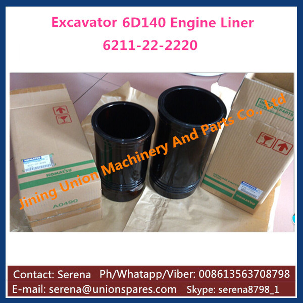 engine cylinder liner for Komatsu D355C-3 D155C-1 D275C-5D D155A-5 WA500-3 HD785-5 PC2000-8 PC650-3 D155AX-3 6211-22-2220