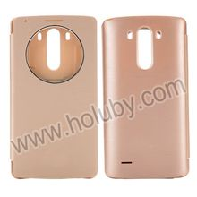 Wholesale Circular S Window Flip Battery Case for LG G3 D850 LS990,Brushed Texture PU Leather Battery Back Cover for LG G3