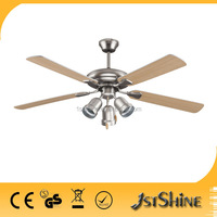 52 inch best decorative ceiling fan 4 blades with 3 lamp with CE approval