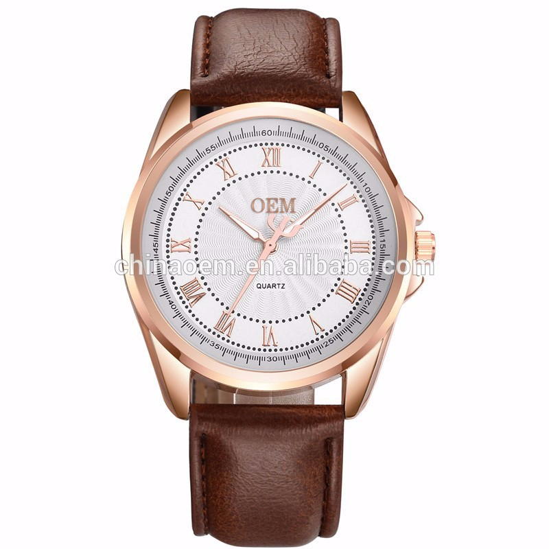 2017 New Fashion Watch Stainless Steel Business Clock Quartz