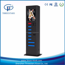 8 Bay Top Video cell phone/mobile phone charging Locker kiosk vending machine