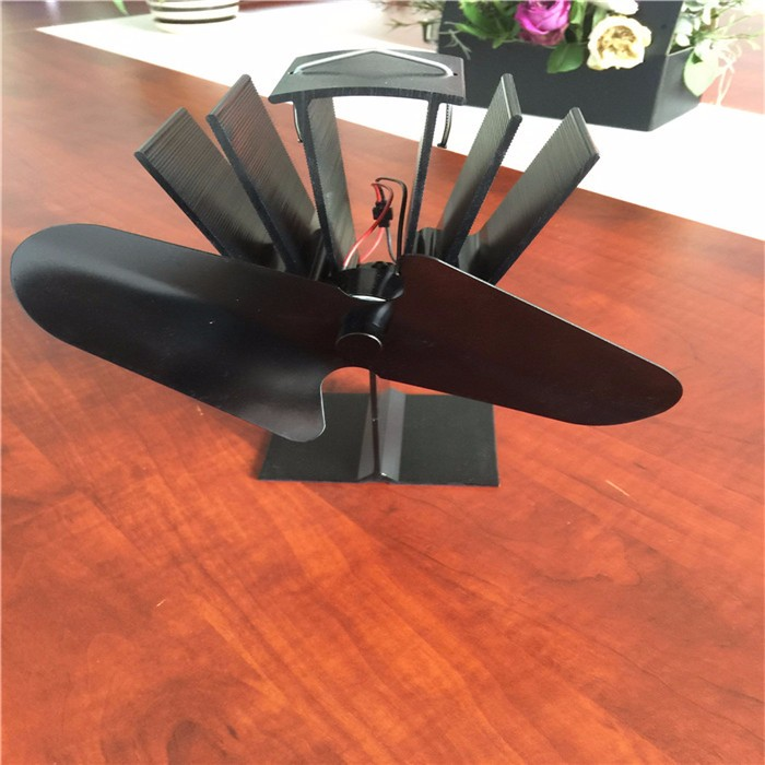 2 blades for wood/ log burner/ fireplace-Eco Friendly stove fan heat powered
