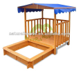 Flat packing waterproof sandbox, wooden sandpit with roof