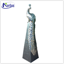 Directly Factory garden stainless steel peacock sculpture for sale NTST-349Y