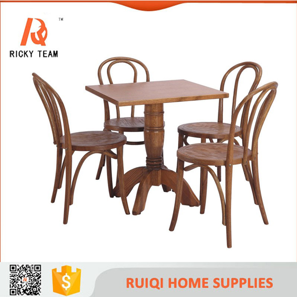 Antique french style wooden dining table and chair high quality wood louis furniture