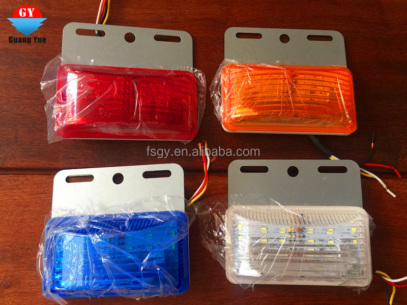 Newest LED side lamp waterproof IP68 yellow/red/blue/white/green