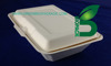 Food container, bagasse hinged fast food packaging boxes