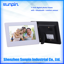 factory OEM 7 inch acrylic material led screen digital photo frame download apps