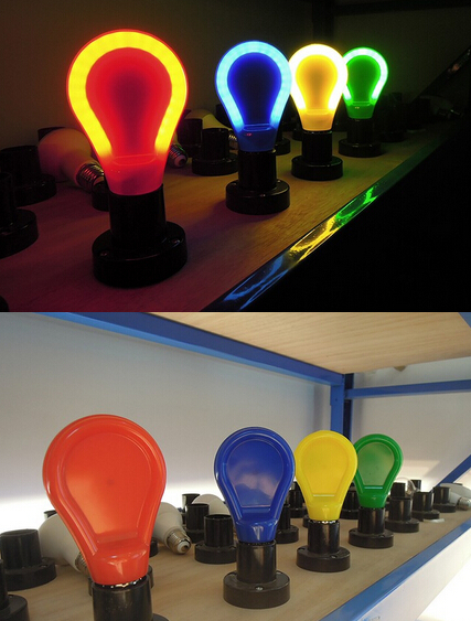 slimstyle ultra thin colorful bule red yellow green 9W E27 E26 B22 LED flat A60 Bulb