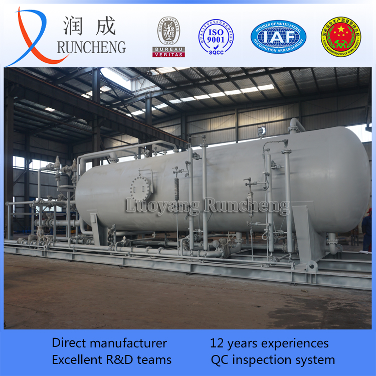 high efficiency oil or gas field use three phase horizontal separator / oil and gas separator