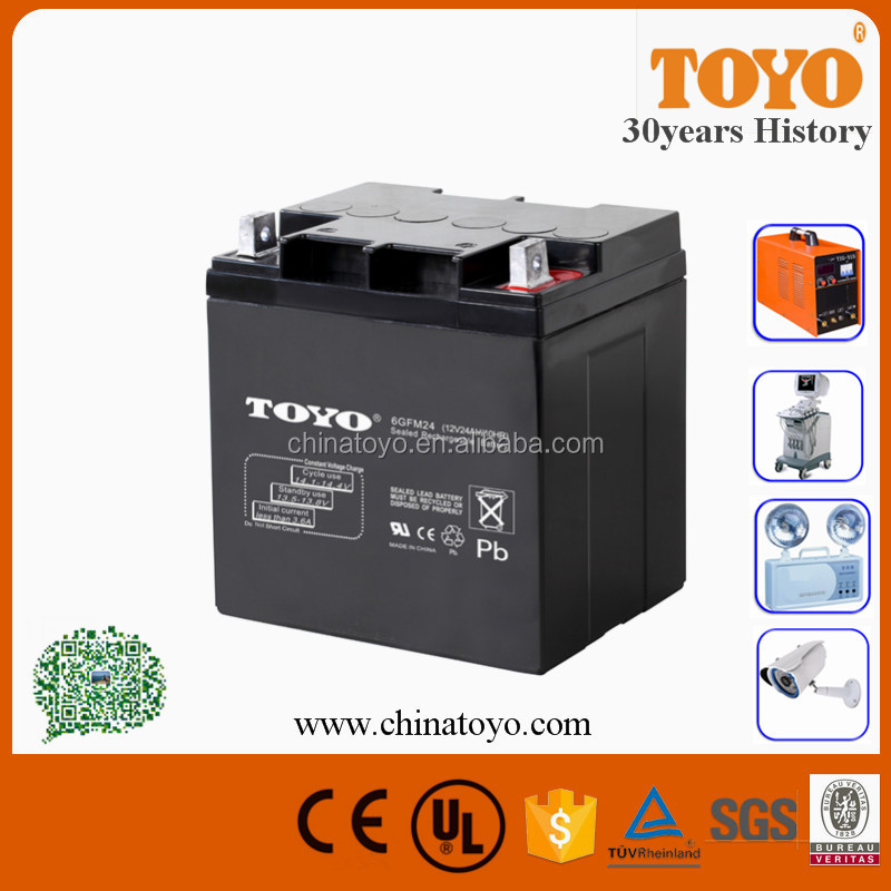 Rechargeable SLA battery 12V 24AH VRLA batteries for UPS