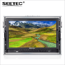 Full HD 1920x1080 broadcast SDI HDMI 17 lcd monitor with Portable Aviation Aluminum Case
