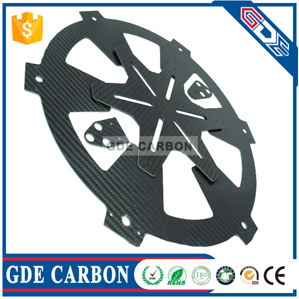 Professional carbon fiber panel Custom made CNC cut 3K carbon fibre board for UAV
