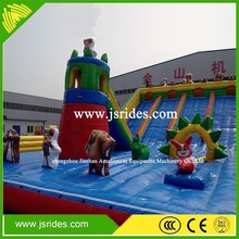 commecial playground inflatable/ used inflatable soft play/giant 0.55mm PVC inflatable jumping playground for kids