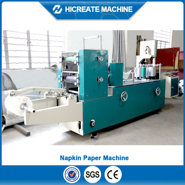 CE Certificated Color Printing and Embossing Napkin Machine