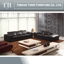 luxury italian leather sofa with chaise lounge for living room