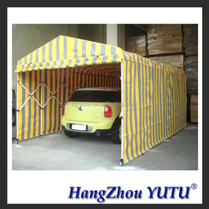 Movable tent warehouse Movable Galvanised tube frame four Side cover Storage Shelter